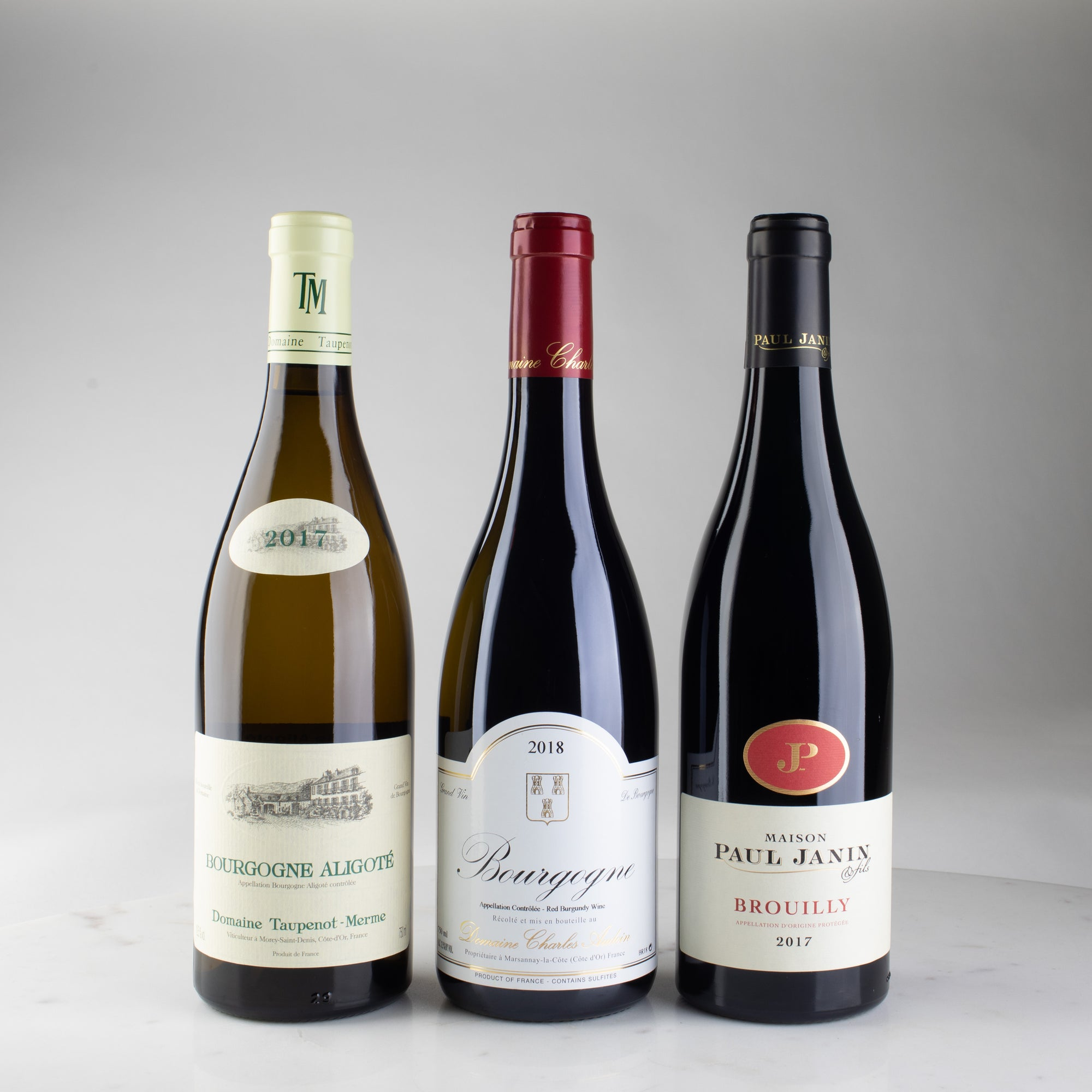 Case Made Wines, Wine delivery california, Taupenot-Merme Bourgogne-Aligoté 2017, Charles Audoin Bourgogne Rouge 2018, Paul Janin Brouilly 2017