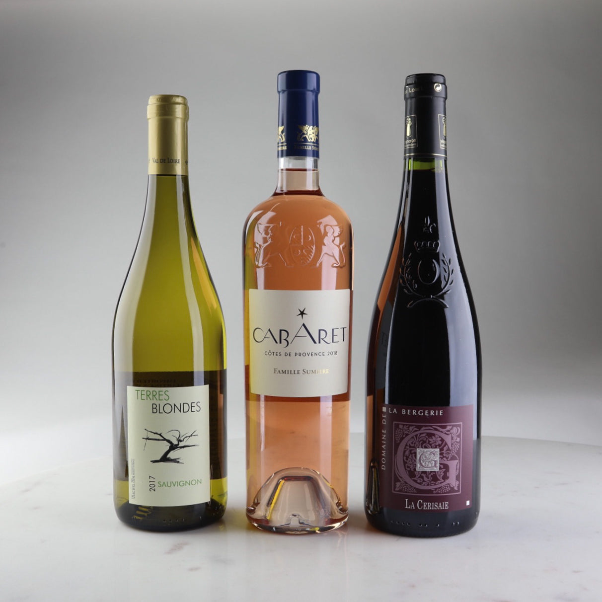 Case Made Wines, Wine delivery california, Terres Blondes Sauvignon Blanc 2017, Chateau Maupague Cotes de Provence Rose Cabaret 2018, Domaine de la Bergerie Anjou Rouge La Cerisaie 2018
