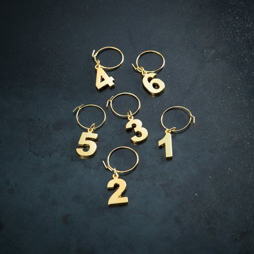 Gold Plated Wine Charms