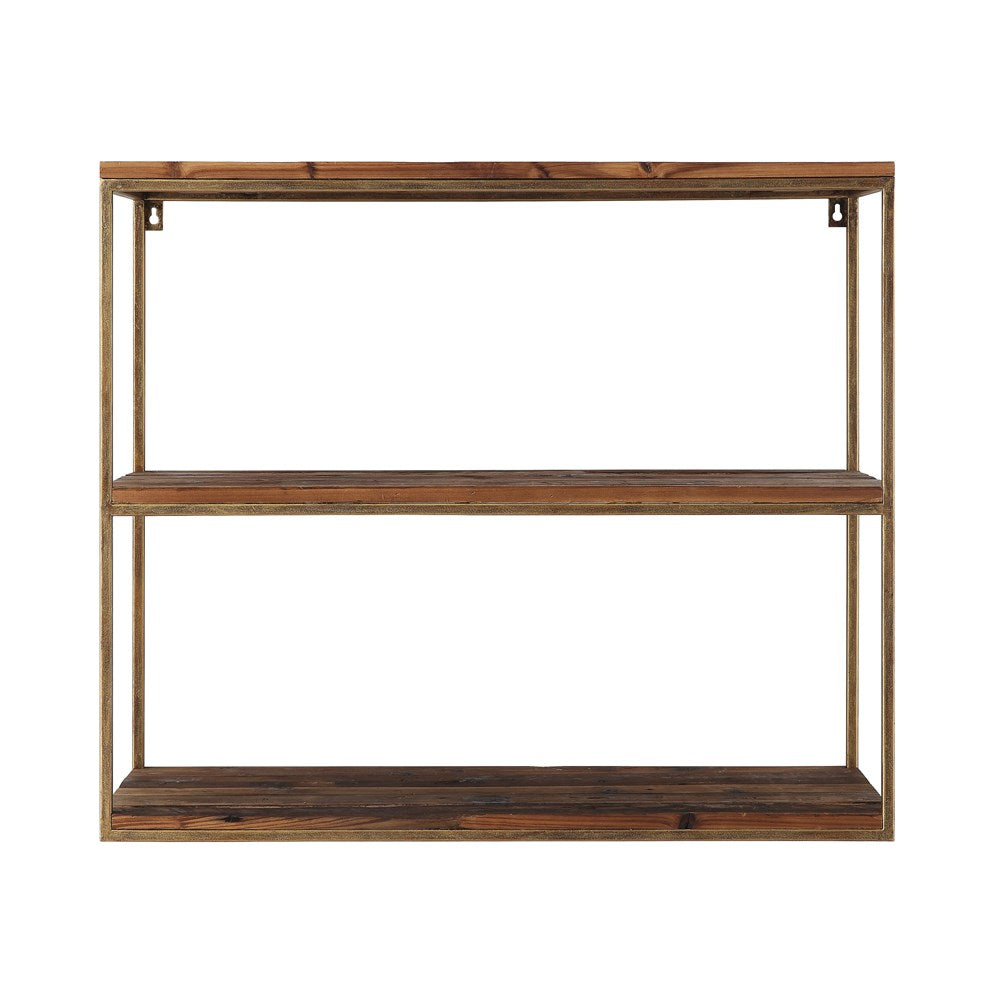 Wood & Metal 3-Tier Wall Shelf FINAL SALE