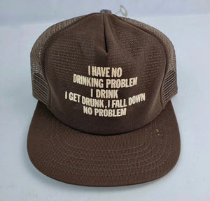Brown Drunk Trucker Hat