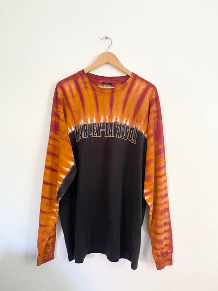 Harley Tie Dye Long Sleeve Shirt