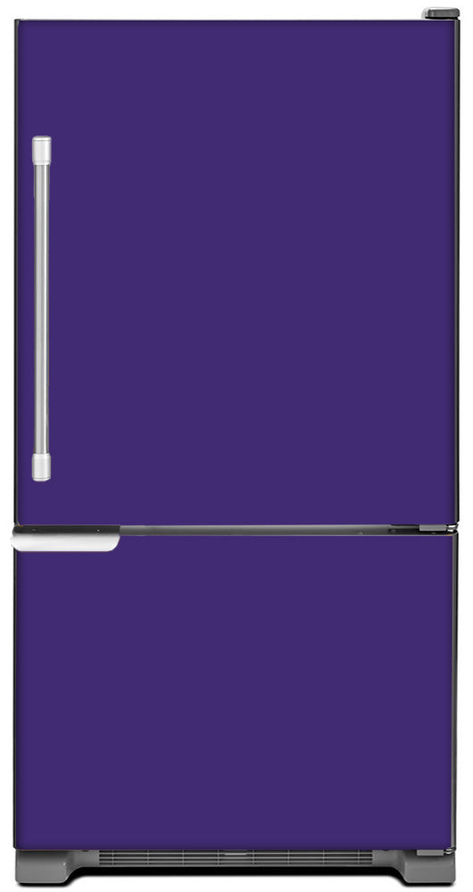 Amethyst Purple Color Magnet Skin on Model Type Bottom Freezer Refrigerator