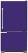 Load image into Gallery viewer, Amethyst Purple Color Magnet Skin on Model Type Bottom Freezer Refrigerator