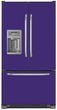 Load image into Gallery viewer, Amethyst Purple Color Magnet Skin on Model Type French Door Refrigerator with Ice Maker Water Dispenser