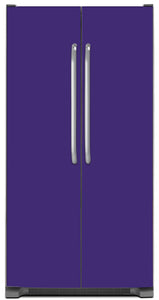 Amethyst Purple Color Magnet Skin on Model Type Side by Side Refrigerator