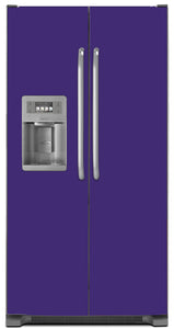 Amethyst Purple Color Magnet Skin on Model Type Side by Side Refrigerator with Ice Maker Water Dispenser