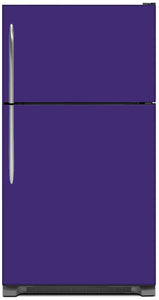 Amethyst Purple Color Magnet Skin on Model Type Top Freezer Refrigerator