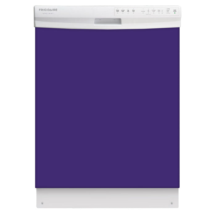 Amethyst Purple Color Magnet Skin on White Dishwasher