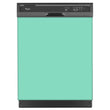Load image into Gallery viewer, Aqua Green Color Magnet Skin on Black Dishwasher