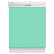 Load image into Gallery viewer, Aqua Green Color Magnet Skin on White Dishwasher