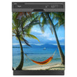 Load image into Gallery viewer, Beach Hammock Magnet Skin on Black Dishwasher