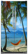 Load image into Gallery viewer, Beach Hammock  Magnet Skin on Model Type Side by Side Refrigerator