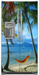 Load image into Gallery viewer, Beach Hammock Magnet Skin on Model Type Side by Side Refrigerator with Ice Maker Water Dispenser