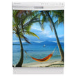 Load image into Gallery viewer, Beach Hammock Magnet Skin on White Dishwasher