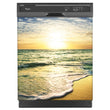 Load image into Gallery viewer, Beach Sunrise Magnet Skin on Black Dishwasher