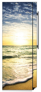 Beach Sunrise Magnet Skin on Side of Refrigerator