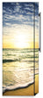 Load image into Gallery viewer, Beach Sunrise Magnet Skin on Side of Refrigerator