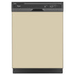 Load image into Gallery viewer, Biscuit Beige Color Magnet Skin on Black Dishwasher