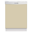 Load image into Gallery viewer, Biscuit Beige Color Magnet Skin on White Dishwasher