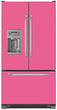 Load image into Gallery viewer, Bubble Gum Pink Color Magnet Skin on Model Type French Door Refrigerator with Ice Maker Water Dispenser