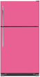 Load image into Gallery viewer, Bubble Gum Pink Color Magnet Skin on Model Type Top Freezer Refrigerator