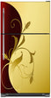 Load image into Gallery viewer, Burgundy Gold Leaf Magnet Skin on Model Type Top Freezer Refrigerator