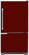 Load image into Gallery viewer, Burgundy Maroon Color Magnet Skin on Model Type Bottom Freezer Refrigerator