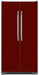 Load image into Gallery viewer, Burgundy Maroon Color Magnet Skin on Model Type Side by Side Refrigerator