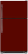 Load image into Gallery viewer, Burgundy Maroon Color Magnet Skin on Model Type Top Freezer Refrigerator