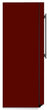 Load image into Gallery viewer, Burgundy Maroon Color Magnet Skin on Side of Refrigerator