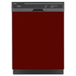 Load image into Gallery viewer, Burgundy Maroon Color Magnet Skin on Black Dishwasher