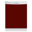 Load image into Gallery viewer, Burgundy Maroon Color Magnet Skin on White Dishwasher