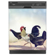 Load image into Gallery viewer, Chickens On The Run Magnet Skin on Black Dishwasher