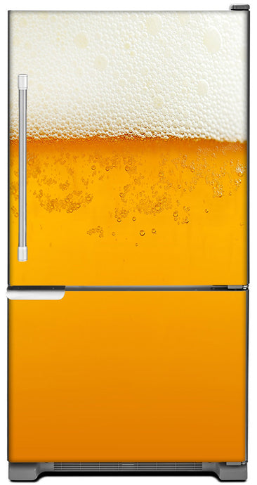 Cold Beer Magnet Skin on Model Type Bottom Freezer Refrigerator