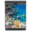 Load image into Gallery viewer, Coral Reef Fish Magnet Skin on Black Dishwasher