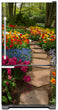 Load image into Gallery viewer, Flower Path Magnet Skin on Model Type Bottom Freezer Refrigerator