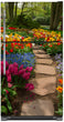Load image into Gallery viewer, Flower Path Magnet Skin on Model Type Top Freezer Refrigerator