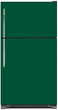 Load image into Gallery viewer, Forest Green Color Magnet Skin on Model Type Top Freezer Refrigerator