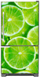 Load image into Gallery viewer, Fresh Limes Magnet Skin on Model Type Bottom Freezer Refrigerator