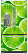Load image into Gallery viewer, Fresh Limes Magnet Skin on Model Type French Door Refrigerator with Ice Maker Water Dispenser