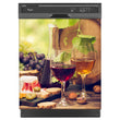 Load image into Gallery viewer, Glasses Of Wine Magnet Skin on Black Dishwasher