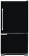 Load image into Gallery viewer, Gloss Black Color Magnet Skin on Model Type Bottom Freezer Refrigerator
