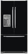 Load image into Gallery viewer, Gloss Black Color Magnet Skin on Model Type French Door Refrigerator with Ice Maker Water Dispenser