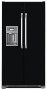 Gloss Black Color Magnet Skin on Model Type Side by Side Refrigerator with Ice Maker Water Dispenser