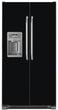 Load image into Gallery viewer, Gloss Black Color Magnet Skin on Model Type Side by Side Refrigerator with Ice Maker Water Dispenser