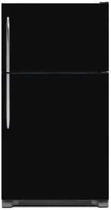 Gloss Black Color Magnet Skin on Model Type Top Freezer Refrigerator