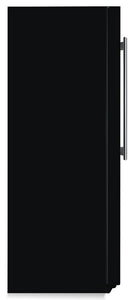 Gloss Black Color Magnet Skin on Side of Refrigerator