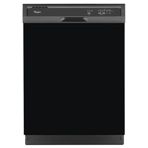 Gloss Black Color Magnet Skin on Black Dishwasher