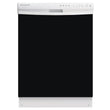 Load image into Gallery viewer, Gloss Black Color Magnet Skin on White Dishwasher